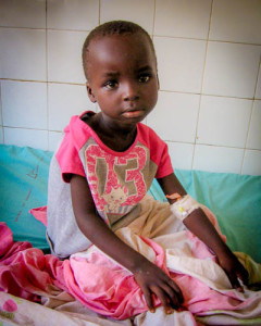 Brima, 7, has been using a catheter since March 2014 due to a urinary blockage. He was sent to Ghana on June 7, where a pediatric surgeon will correct his problem with a minimally invasive procedure.