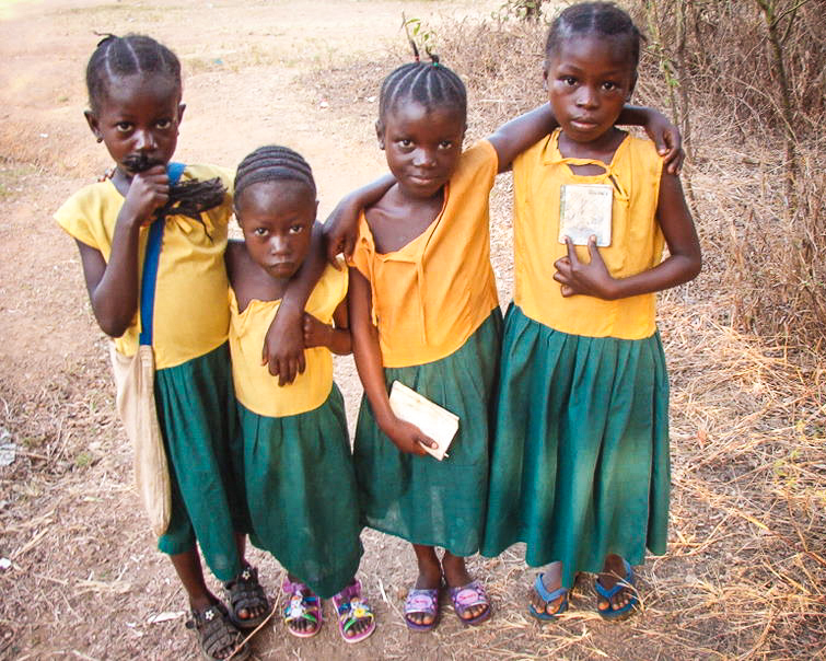 "Masongbo children members of our ""Sponsor a School Child"" program"